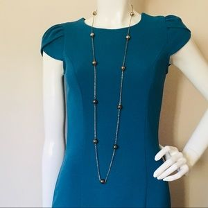 Long beaded chain necklace